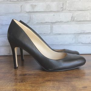 Marc Fisher Black Leather Pumps High Heels Size 9